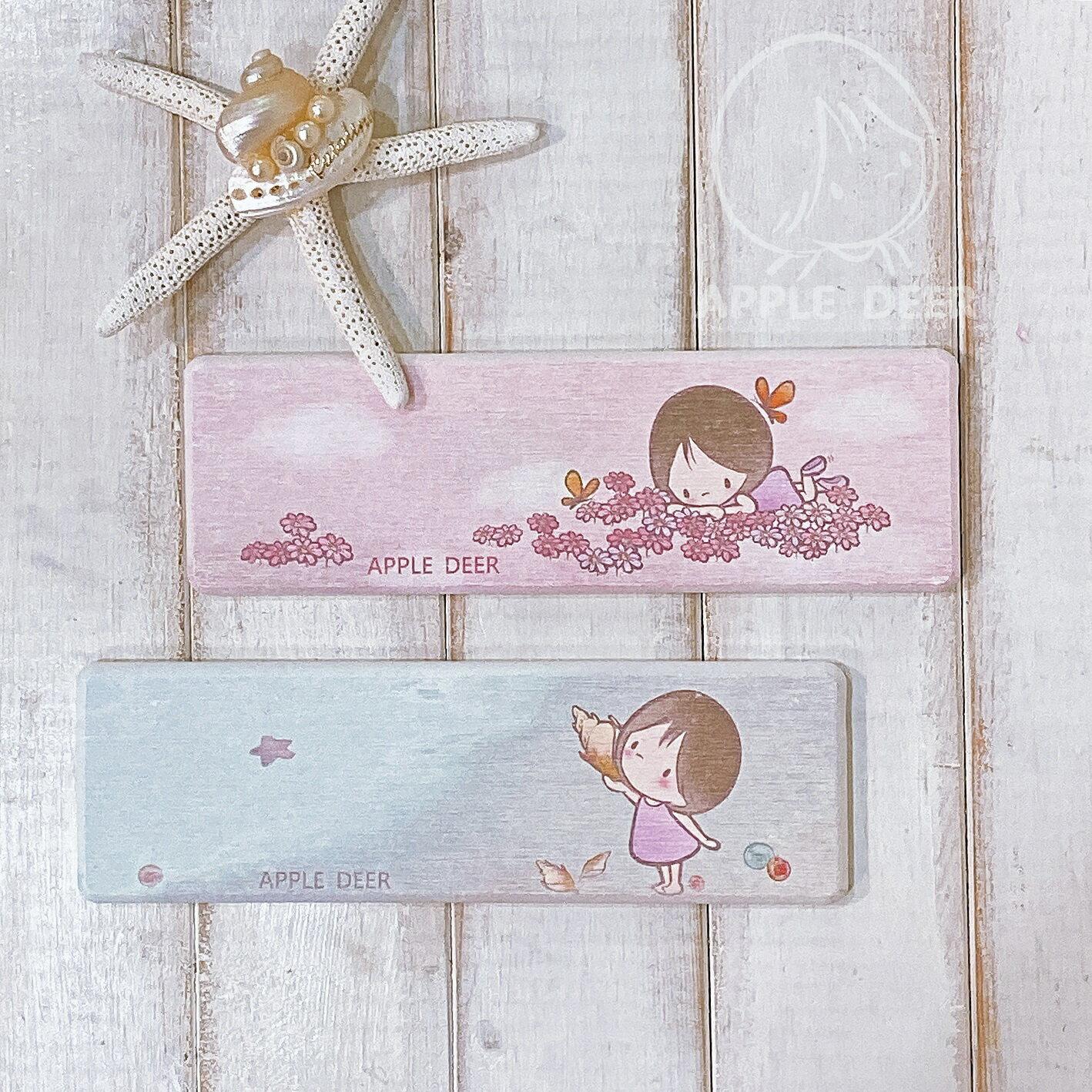 【蘋果小鹿】 布蕾女孩  文創 硅藻土洗手台墊 - 海邊 1