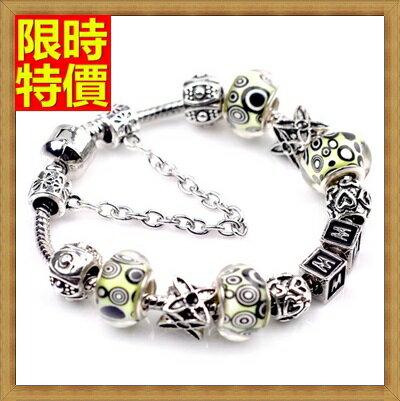 手鍊 潘朵拉元素串珠手鍊 925純銀~琉璃飾品 情人節  71o71~ ~~米蘭 ~