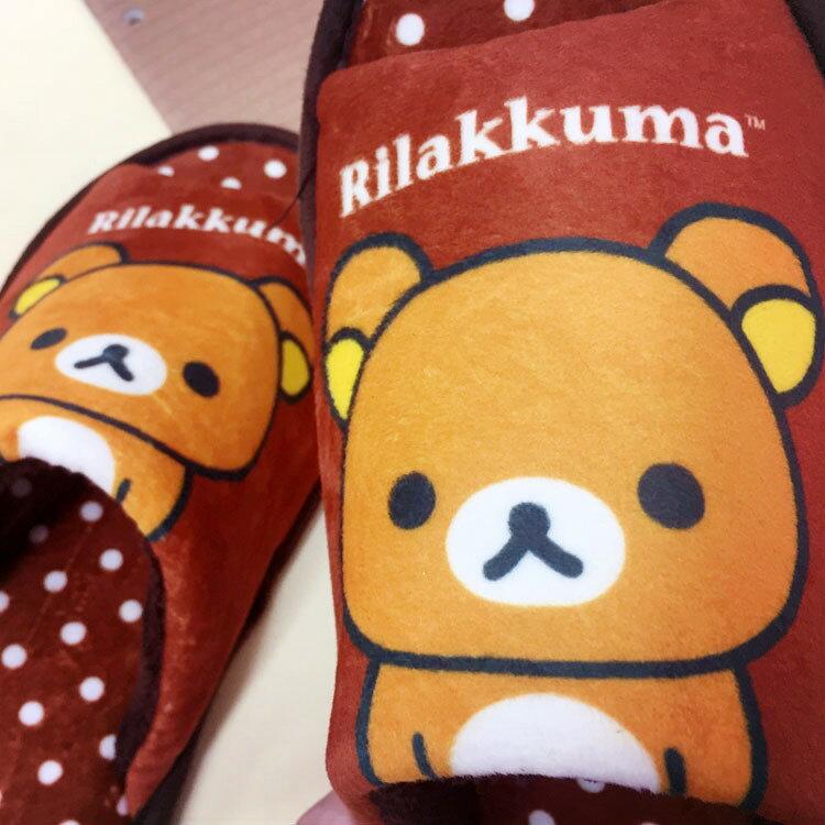 PGS7 (現貨+預購) 日本卡通系列商品 - 拉拉熊 絨毛 拖鞋 咖啡色 鞋子 室內拖 拉拉雄 懶懶熊 鬆弛熊