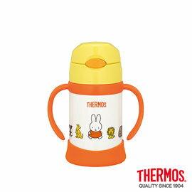 【淘氣寶寶】【THERMOS 膳魔師】不鏽鋼保冷保溫瓶 兒童雙耳學習杯 250ML (FHI-250DS) 原廠授權【米菲兔】【原廠公司貨】