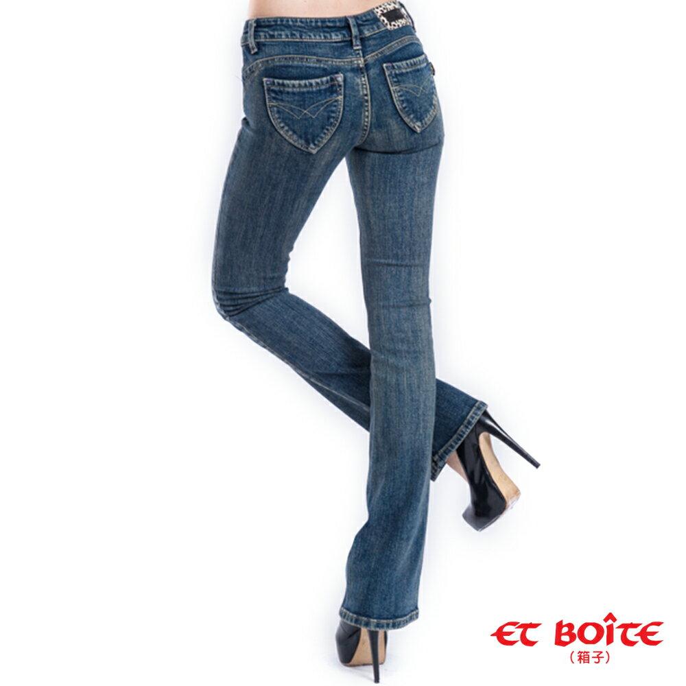 【限時5折↘】經典翹臀靴型褲 - BLUE WAY  ET BOiTE 箱子 2