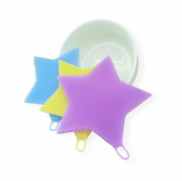 神奇多功能耐熱矽膠刷星星款(洗碗刷 清潔刷 矽膠 菜瓜布 矽膠桌墊 蔬果刷 耐熱抗菌 無毒安全 食品級矽膠)