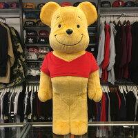 小熊維尼周邊商品推薦現貨 BEETLE BE@RBRICK WINNIE THE POOH 小熊維尼 絨毛 維尼熊 1000%