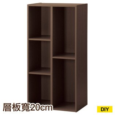 【DIY】彩色櫃45COLOBO45-3SH-DBR五格櫃NITORI宜得利家居