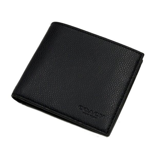 COACH74981防刮皮四卡零錢袋男短夾