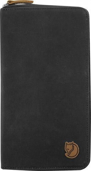 Fjallraven 瑞典北極狐 Travel Wallet 旅遊護照包/復古拉鍊皮夾/旅遊錢包/收納包 24219-030深灰