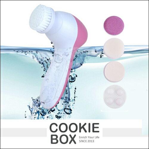 5合1 電動 洗臉器 潔顏 清潔 刷毛 海綿 磨砂 深層 潔淨 改善 膚質 去除 黑頭 肌
