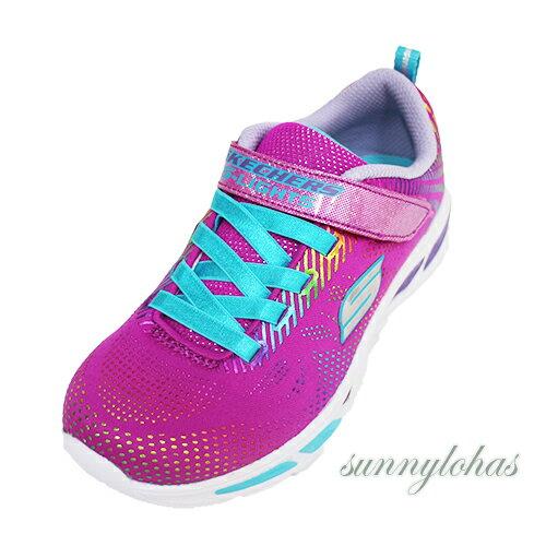 SKECHERS(童)燈鞋系列LITEBEAMS-GLEAM休閒鞋運動鞋魔鬼氈-10959LNPMT桃彩[陽光樂活]