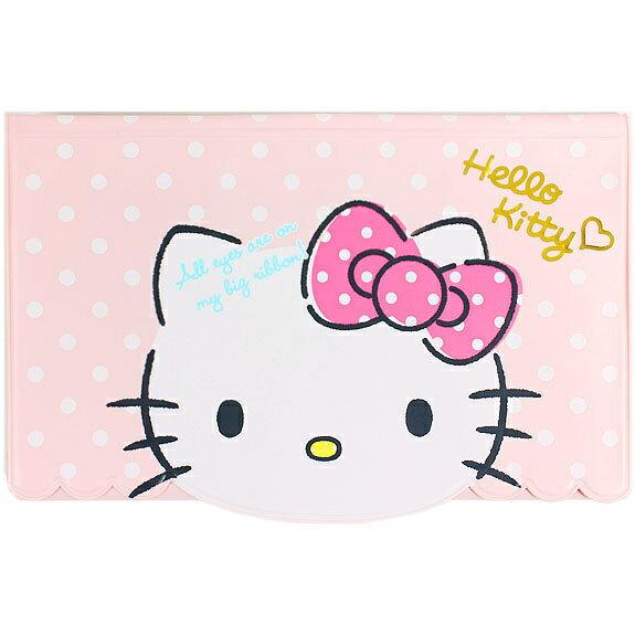 X射線【C420348】Hello Kitty 護照套(粉),卡片夾/存摺套/旅行箱/行李箱/拉桿箱/購物箱/卡片收納