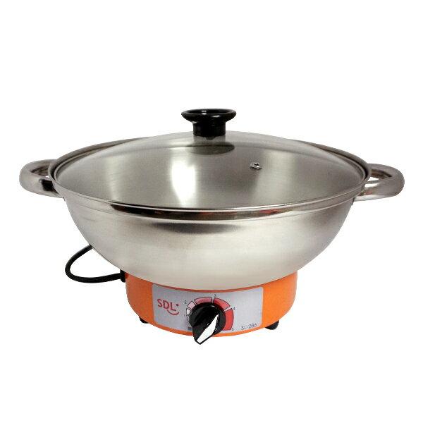 [福利品]【SDL 山多力】高級不鏽鋼電火鍋 (SL-286)