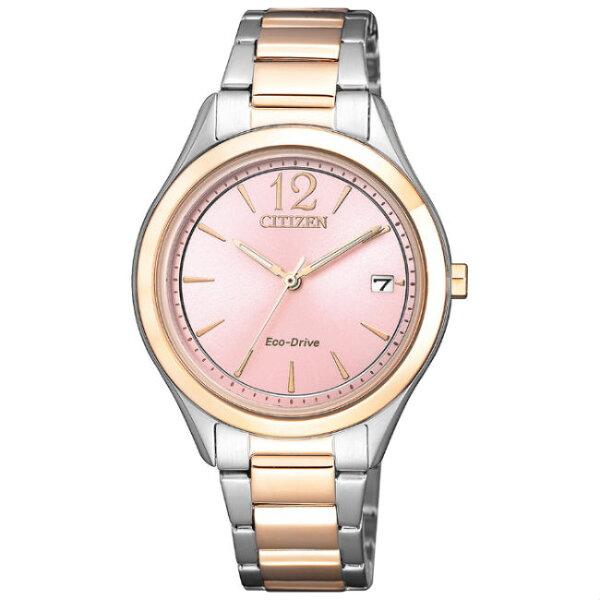 CITIZEN星辰錶FE6126-80XLADY系列簡約時尚淑女光動能腕錶33.5mm