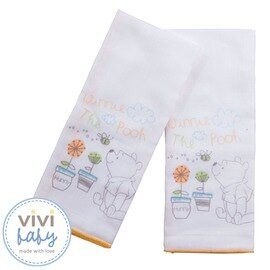 ViViBaby - Disney迪士尼小熊維尼紗布澡巾 0
