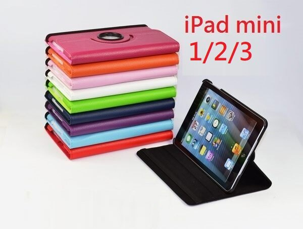<br/><br/>  UNIPRO【M013】iPad mini 1 2 360度旋轉 荔枝紋 休眠喚醒 支架皮套 保護套<br/><br/>