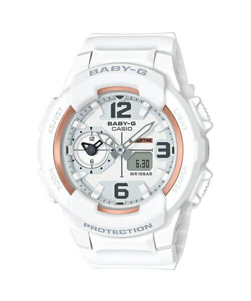 CASIO BABY-G BGA-230GGB-7B少女時代簽名雙顯流行腕錶/白色42.9mm