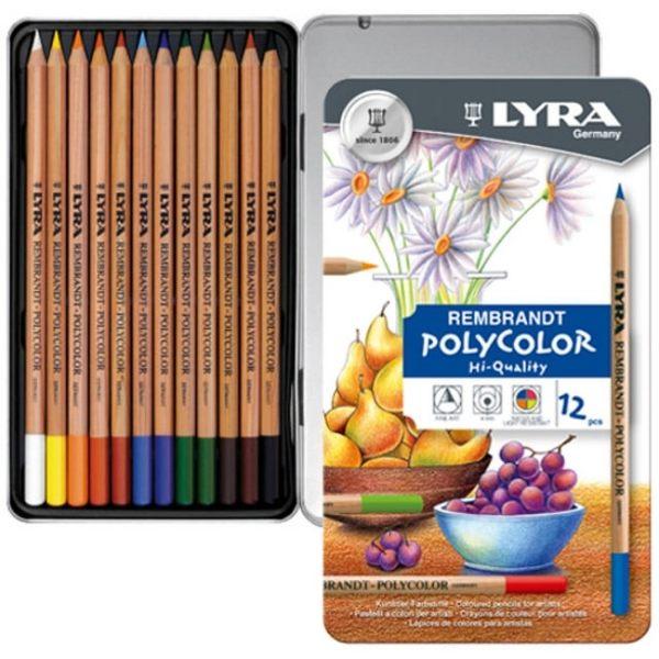【德國LYRA】林布蘭專業油性色鉛筆(12色鐵盒)