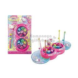 〔小禮堂嬰幼館〕Hello Kitty 釣魚玩具《粉.站姿摸下巴.多蝴蝶結.泡殼裝》增加親子互動
