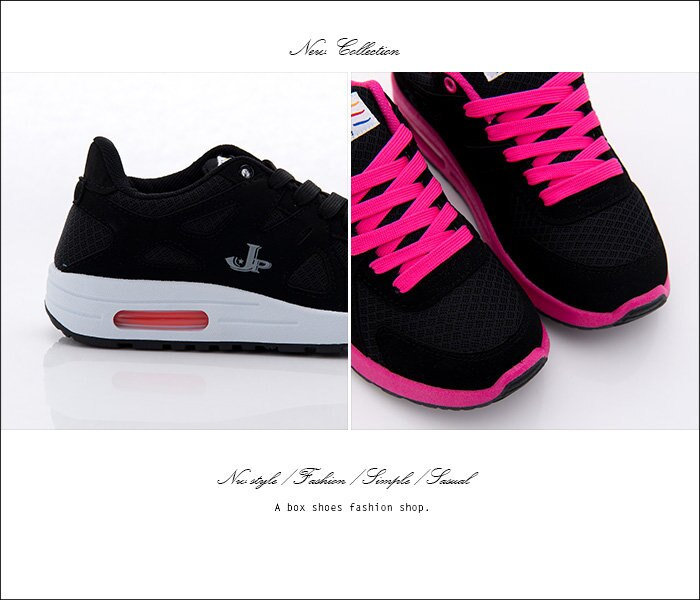 格子舖*【AJ1577】MIT台灣製 校園青春時尚撞色 舒適氣墊 綁帶休閒運動鞋 2色 2