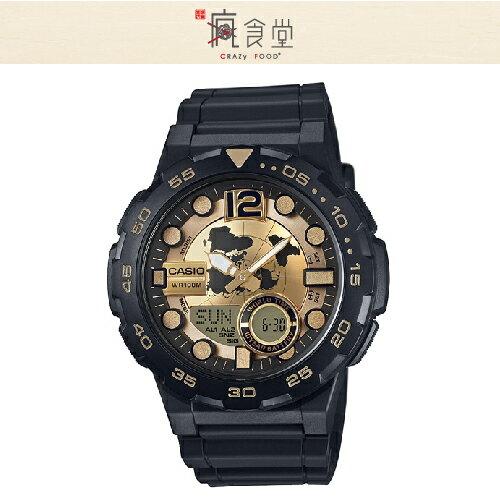 CASIO 卡西歐手錶 世界時間雙顯錶 AEQ-100BW-9A