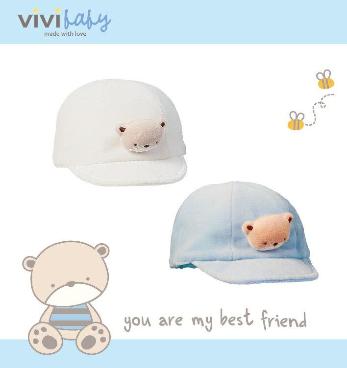 ViVi Baby - 熊熊棒球帽 (白) 1