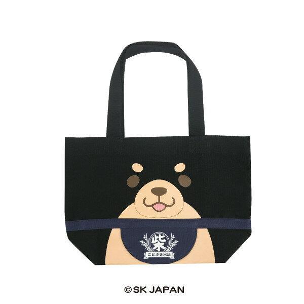 日本Mochishiba帆布手提托特包(黑柴)