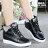 【KP827】綁帶休閒鞋 懶人鞋 6.5CM厚底隱形內增高 PU皮革材質 2色 0