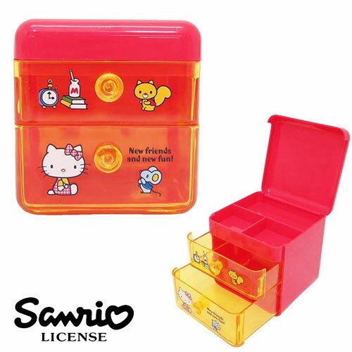 【日本正版】凱蒂貓 HelloKitty 桌上收納 抽屜盒 收納盒 三麗鷗 Sanrio - 018155