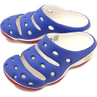 ├登山樂┤美國KEEN 男 Yogui 專業戶外護趾拖鞋/涼鞋 藍/白/紅#1011265