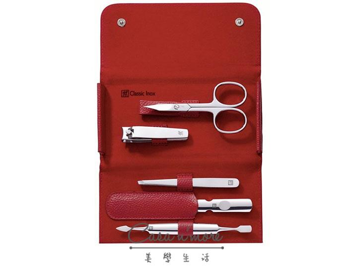 德國 雙人牌 Zwilling Classic Inox 修容5件組 紅色