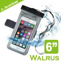 【Avantree Walrus運動音樂手機防水袋(可接防水耳機)】附臂帶/頸掛式吊繩 iPhone6 Plus防水套/臂套 游泳/浮潛皆適用 【風雅小舖】