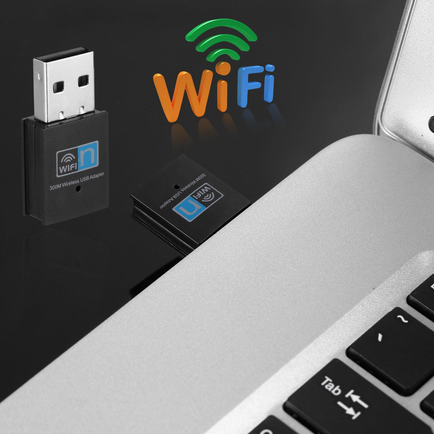 300Mbps Mini Wireless USB Wifi Adapter LAN Internet Network Adapter 802.11n/g/b 2