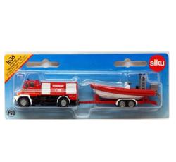 (卡司 正版現貨) 德國小汽車 SIKU 消防車 快艇 SU1636 兒童禮物 模型車 玩具車