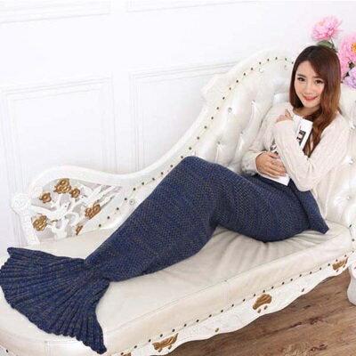 ★毛毯 懶人毯-人魚尾巴仿羊絨針織毯子7色73pp489【獨家進口】【米蘭精品】 0