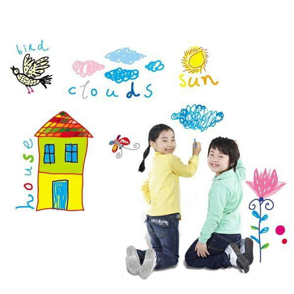 BO雜貨【YV0005】可移除白板貼 壁貼 背景貼 時尚組合壁貼 璧貼 佈告欄 留言板 塗鴉牆 白板貼