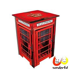 Werkhaus 彩印經典木凳 (復古電話亭)