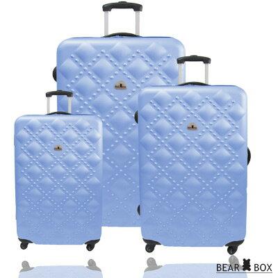 ✈Bear Box 時尚香奈兒系列ABS霧面輕硬殼三件組旅行箱 / 行李箱 5
