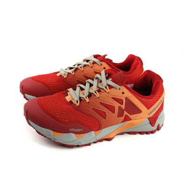 MERRELLAGILITYPEAKFLEX2E-MESH慢跑鞋運動鞋健行橘紅色女鞋ML12556no899