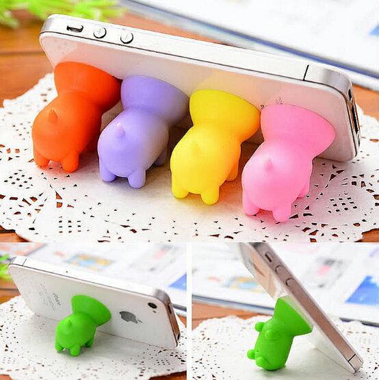 【省錢博士】新款時尚可愛小豬吸盤支架 / 迷你矽膠通用型手機支架 9元
