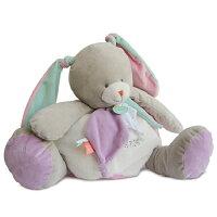 彌月禮盒推薦Doudou 粉綠紫兔抱抱布偶 (40cm)