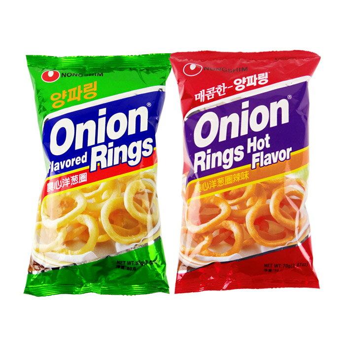有樂町進口食品 韓國進口 農心洋蔥圈 原味/辣味 80g 031146216178