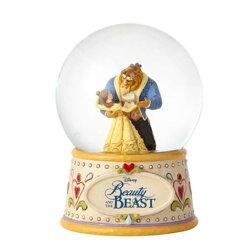 X射線【C932639】美女與野獸Beauty and the Beast 漫舞水晶球,迪士尼/收藏/擺飾/音樂盒/禮品/禮物/水晶擺飾/JIM SHORE