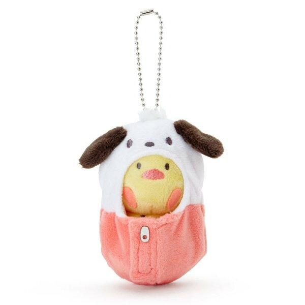 【真愛日本】18081300015可拆式睡袋珠鍊吊娃-PC小雞三麗鷗帕恰狗pc狗小雞吊飾睡袋鑰匙圈擺飾