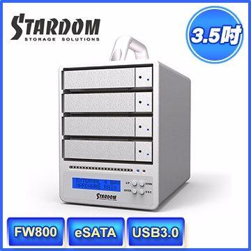 STARDOM SR4-WBS3+ USB3.0/eSATA/FW800 4bay 3.5吋磁碟陣列設備(和順電通) [天天3C]