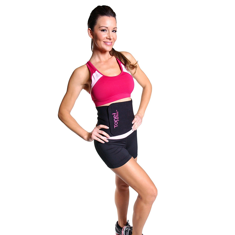 Tone Fitness Waist Slimmer Belt, Black 1