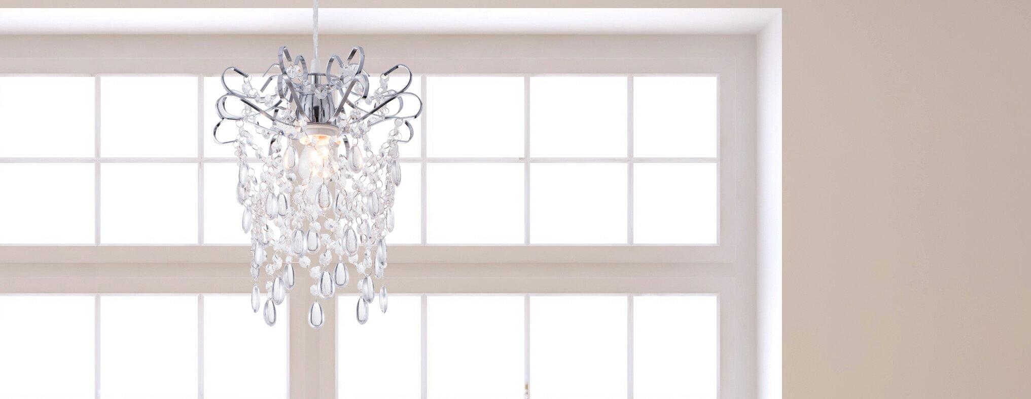 鍍鉻扁鐵框透明壓克力珠吊燈-BNL00048 6