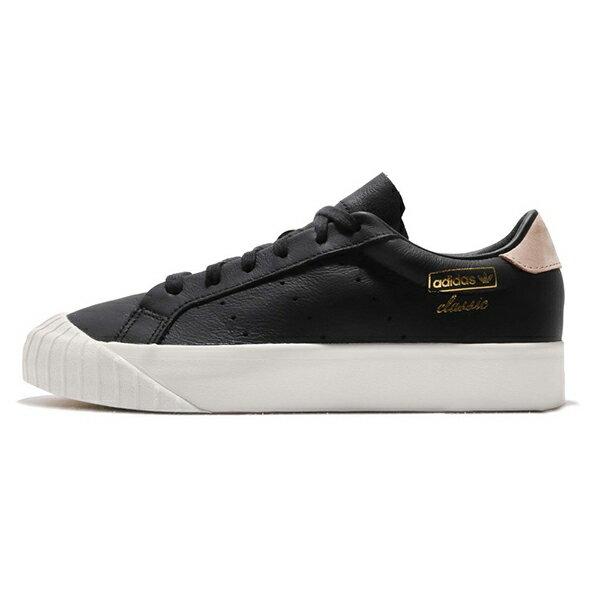 【ADIDAS】愛迪達 Everyn W 運動鞋 休閒鞋 基本款 餅乾鞋 黑 女鞋 -CQ2003 1