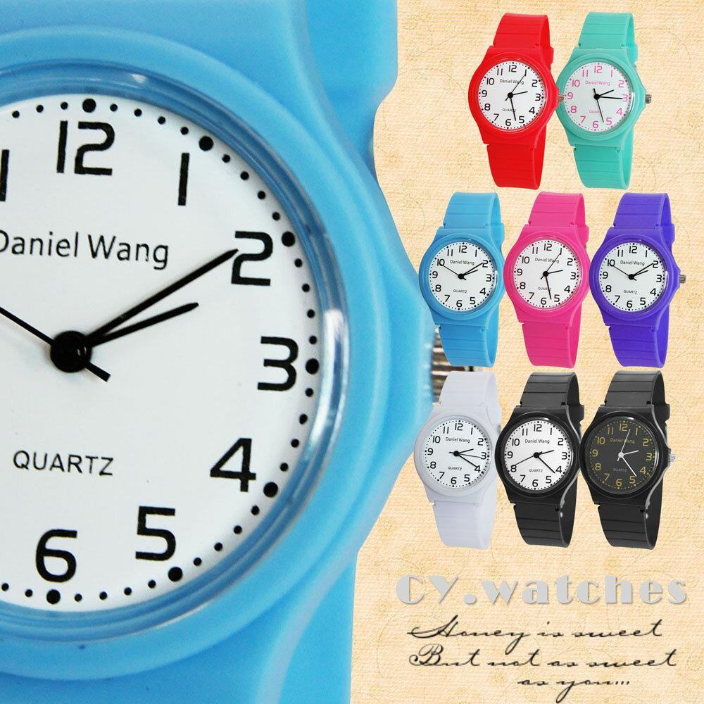 Daniel Wang 4118-日系 馬卡龍輕薄數字學生錶 2