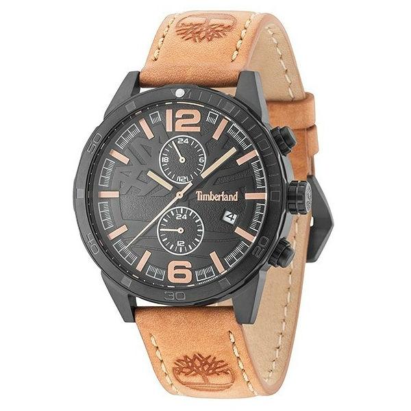 Timberland 天柏嵐 TBL.15256JSB / 02 美式復古流行腕錶 / 黑面 46mm - 限時優惠好康折扣