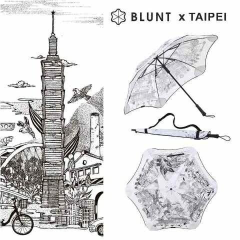 兩之85折├登山樂┤紐西蘭BLUNT保蘭特限量傘:城市經典-台北款CLASSIC經典直傘-旭日白#BLT-C04-WH