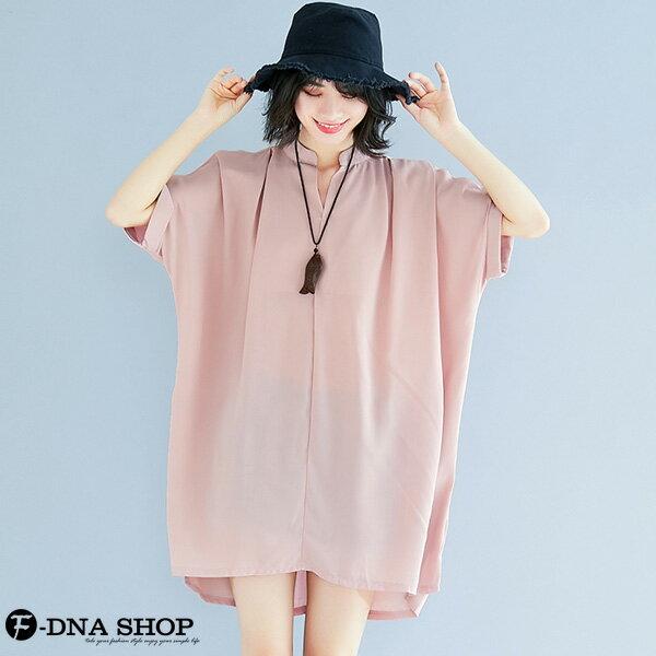 加大尺碼★F-DNA★溫柔雪紡短袖連衣裙洋裝(粉-大碼F)【EG22060】 1