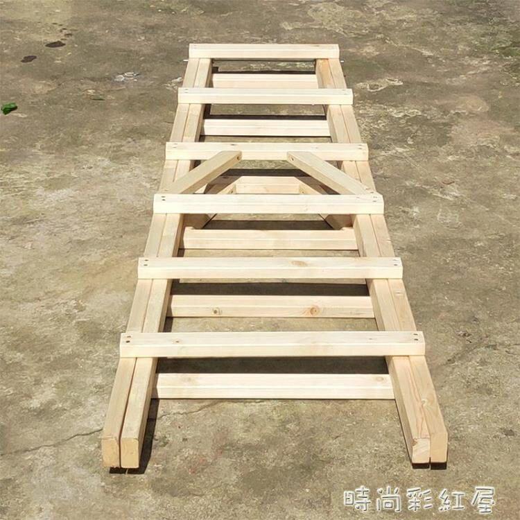 618限時搶購 裝修實木木梯木頭人字梯家用梯直梯行動雙側木梯室內水電工程木梯MBS 8號時光